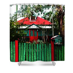 Brisbane Queenslander Shower Curtain