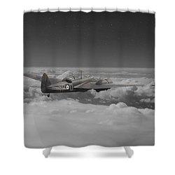 Bristol Blenheim - 'night Stalker' Shower Curtain by Pat Speirs