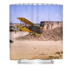 Shower Curtain featuring the photograph Bristol Fighter - Aden Protectorate  by Pat Speirs