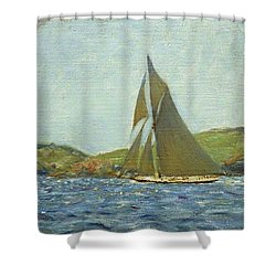 Shower Curtain featuring the painting Britannia by Henry Scott Tuke