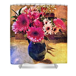 Brithday Wish Bouquet Shower Curtain by MaryLee Parker