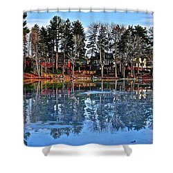 Shower Curtain featuring the photograph British Columbia by Frozen in Time Fine Art Photography