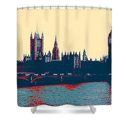 British Parliament Shower Curtain