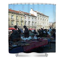 British Square Zagreb Shower Curtain by Steven Richman