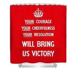 British Ww2 Propaganda Shower Curtain