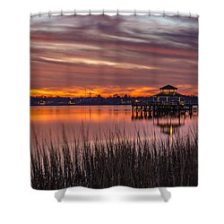 Brittlebank Park Dock Charleston Sc Shower Curtain