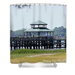 Brittlebank Park Pier Shower Curtain