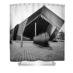 Shower Curtain featuring the photograph Broad Art Museum by Larry Carr