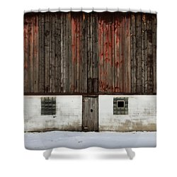 Broad Side Of A Barn Shower Curtain by Julie Hamilton