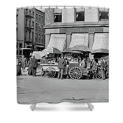 Broad St. Lunch Carts New York Shower Curtain
