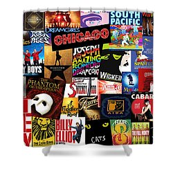 Broadway 3 Shower Curtain by Andrew Fare
