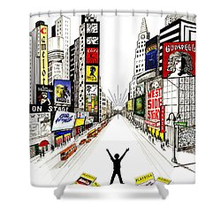 Broadway Dreamin' Shower Curtain