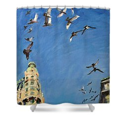 Broadway Pigeons No. 1 Shower Curtain