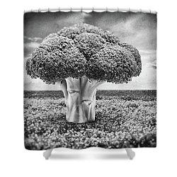 Broccoli Tree Shower Curtain by Wim Lanclus