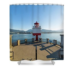 Brockton Point Lighthouse At Stanley Park Shower Curtain by David Gn
