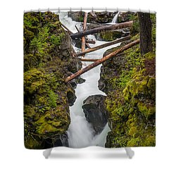 Broiling Rogue Gorge Shower Curtain