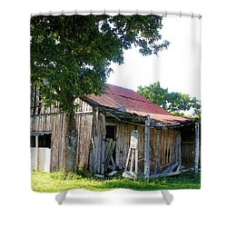 Brokedown Barn Shower Curtain