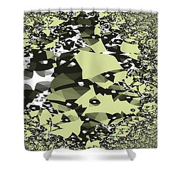 Shower Curtain featuring the digital art Broken Abstract by Jessica Wright
