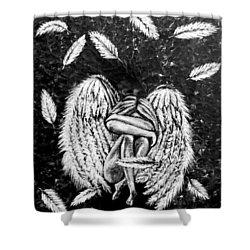Broken Angel Shower Curtain by Teresa Wing