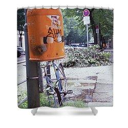 Broken Bike In Berlin Shower Curtain