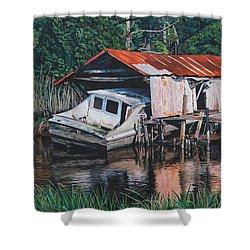 Broken Boat Shower Curtain