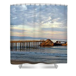 Broken Boat, Ss Palo Alto Shower Curtain by Amelia Racca