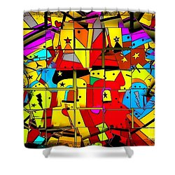 Shower Curtain featuring the digital art Broken Castle By Nico Bielow by Nico Bielow