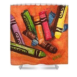 Broken Crayons Shower Curtain