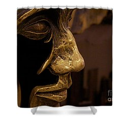 Broken Face Shower Curtain
