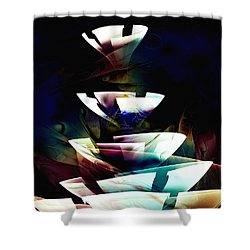 Shower Curtain featuring the digital art Broken Glass by Anastasiya Malakhova
