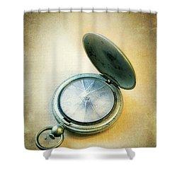 Broken Pocket Watch Shower Curtain by Jill Battaglia