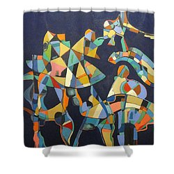 Shower Curtain featuring the painting Broken Promises Last Forever by Bernard Goodman
