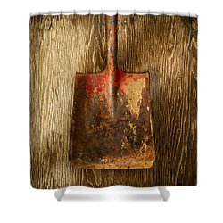 Tools On Wood 2 Shower Curtain
