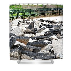 Shower Curtain featuring the photograph Broken Sidewalk by Lola Connelly