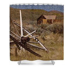 Shower Curtain featuring the photograph Broken Spokes by Lana Trussell