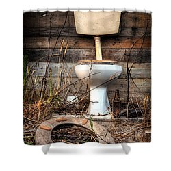 Broken Toilet Shower Curtain