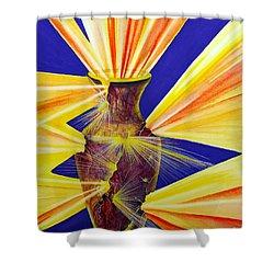 Broken Vessel Shower Curtain by Nancy Cupp