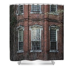 Shower Curtain featuring the photograph Broken Windows On Abandoned Building by Kim Hojnacki