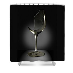 Broken Wine Glass Shower Curtain by Yuri Lev