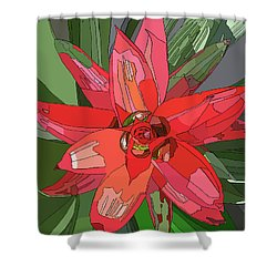 Bromiliad Shower Curtain