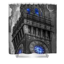 Bromo Seltzer Tower Baltimore - Blue  Shower Curtain