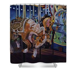 Bronc Busting 101 Shower Curtain