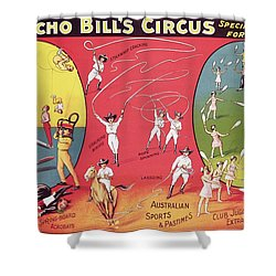 Bronco Bills Circus Shower Curtain by English School