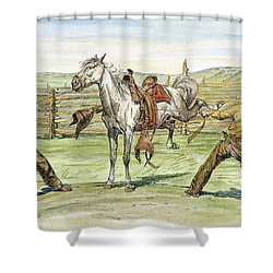Bronco Busters Shower Curtain by Granger