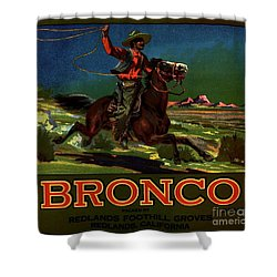 Bronco Redlands California Shower Curtain by Peter Gumaer Ogden