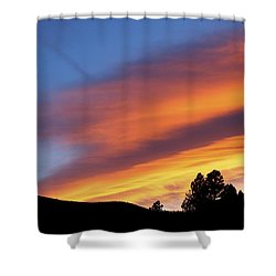 Broncos Sunset Shower Curtain