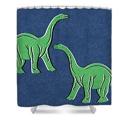 Brontosaurus Shower Curtain