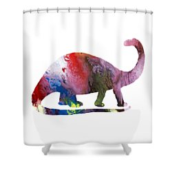 Brontosaurus Shower Curtain by Mordax Furittus