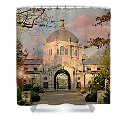 Bronx Zoo Entrance Shower Curtain by Diana Angstadt
