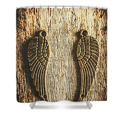 Bronze Angel Wings Shower Curtain